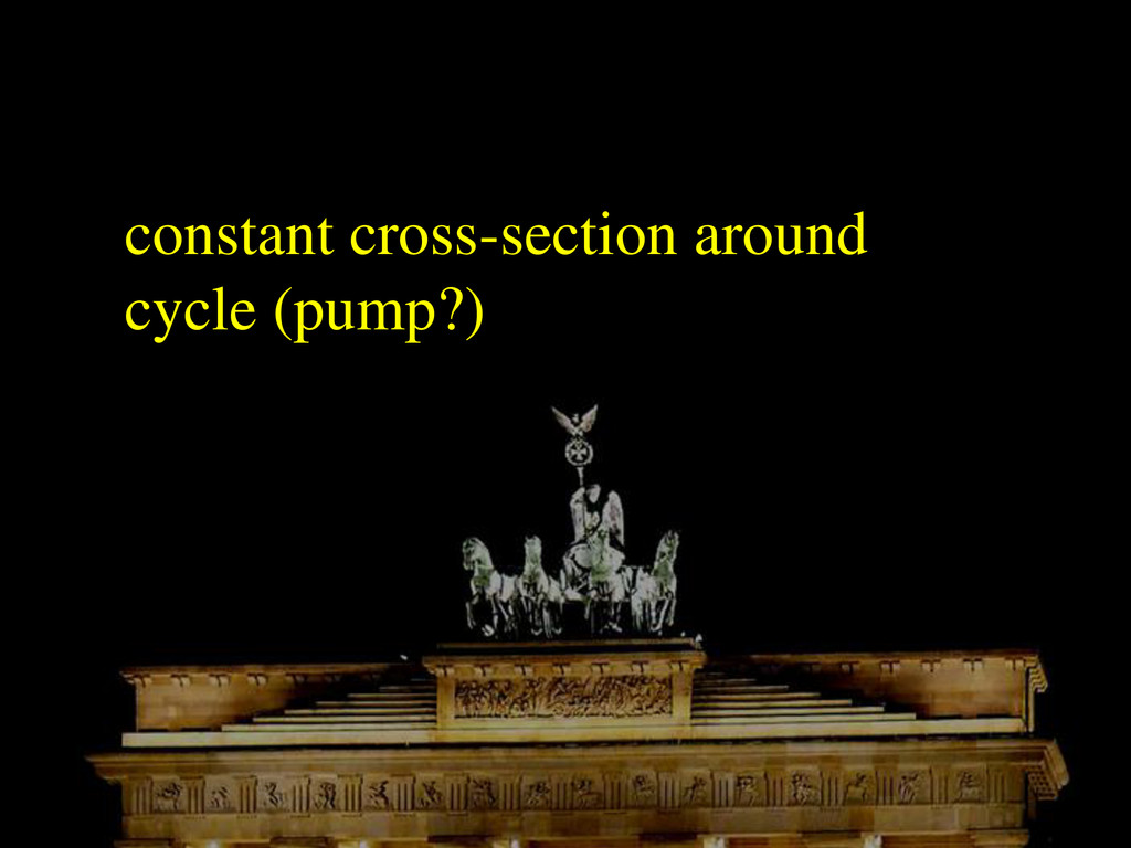 constant cross-section around cycle (pump?)