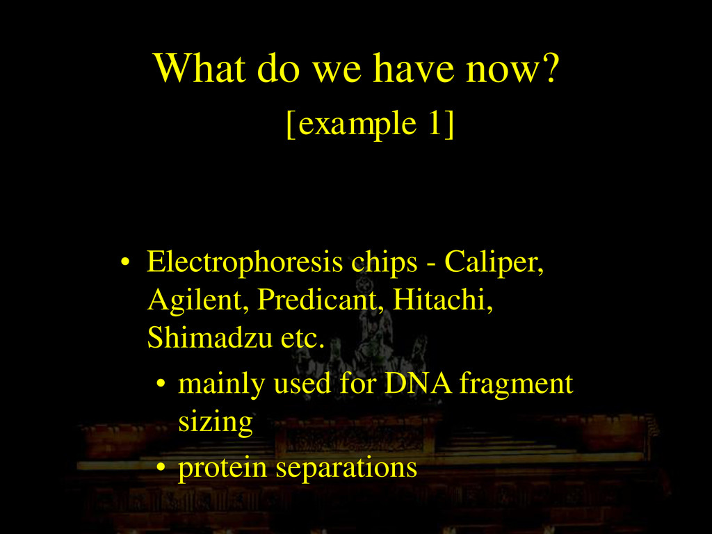 What do we have now? [example 1] • Electrophore...