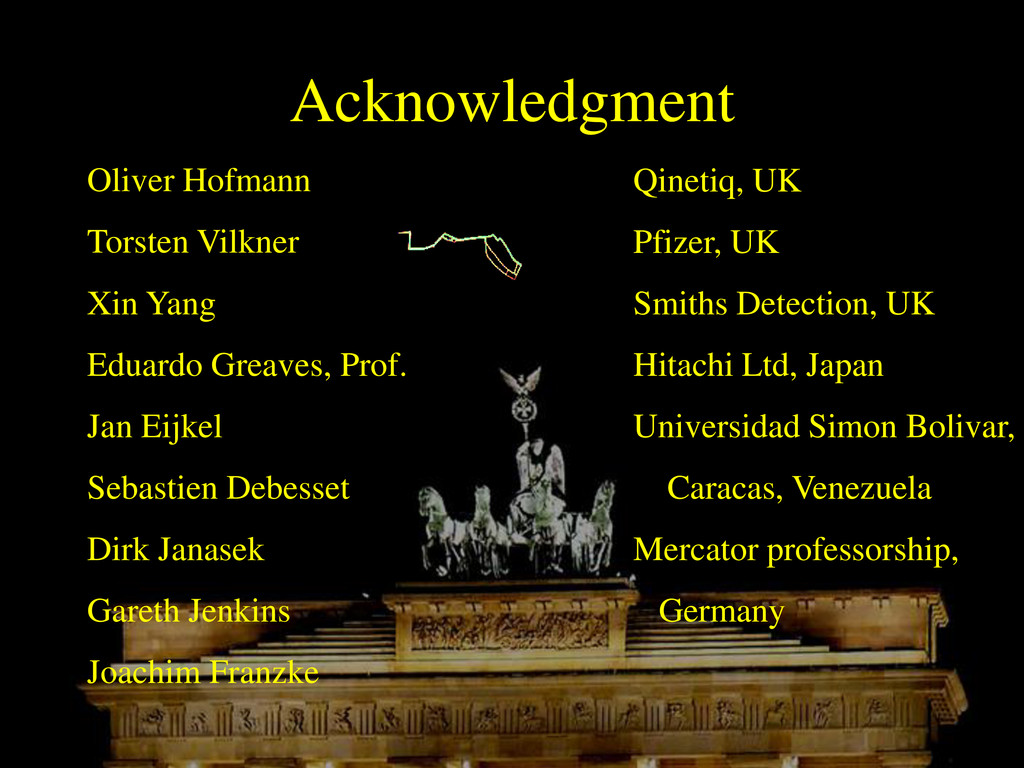 Acknowledgment Oliver Hofmann Torsten Vilkner X...