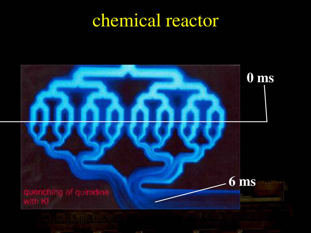 0 ms 6 ms chemical reactor