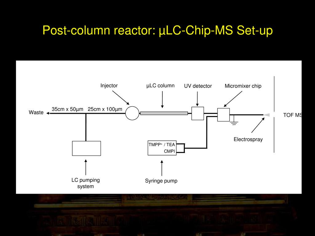 Post-column reactor: µLC-Chip-MS Set-up 25cm x ...