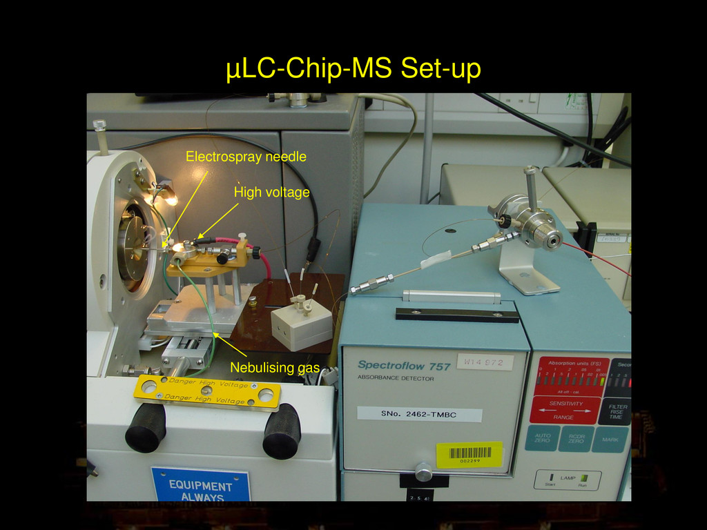 µLC-Chip-MS Set-up Electrospray needle High vol...