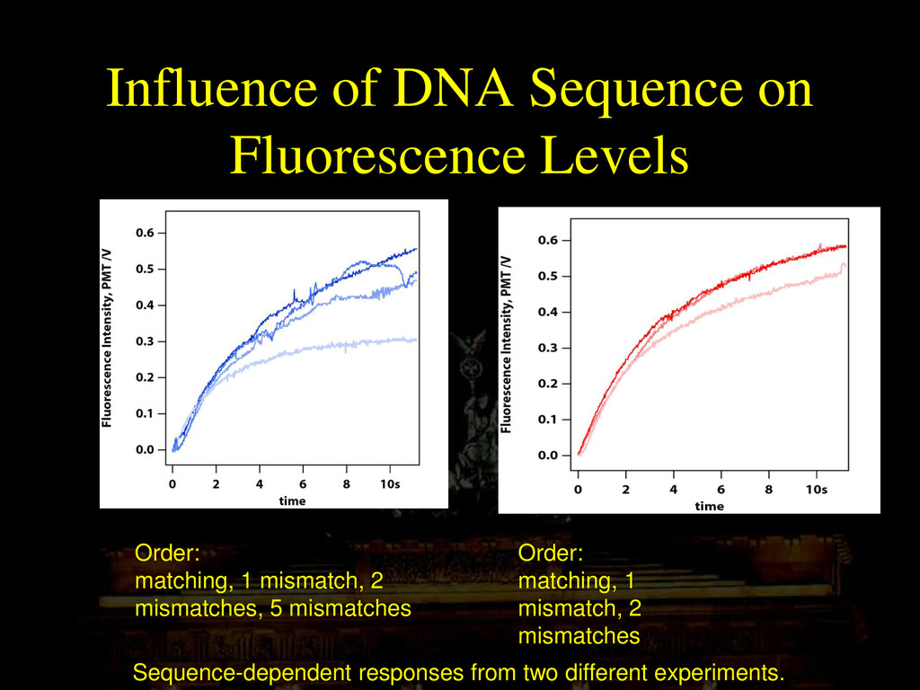 Influence of DNA Sequence on Fluorescence Level...