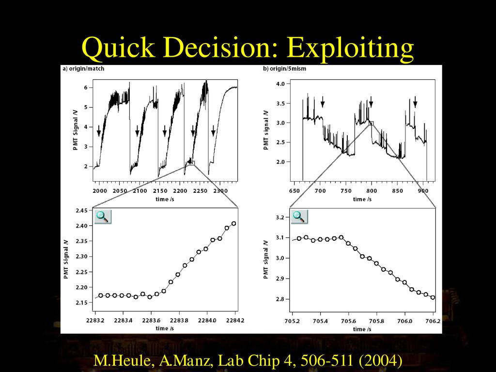 Quick Decision: Exploiting Photobleaching Effec...