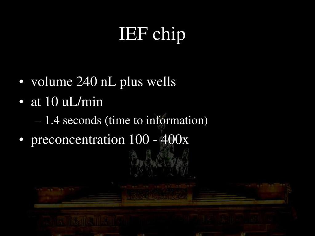 IEF chip • volume 240 nL plus wells • at 10 uL/...