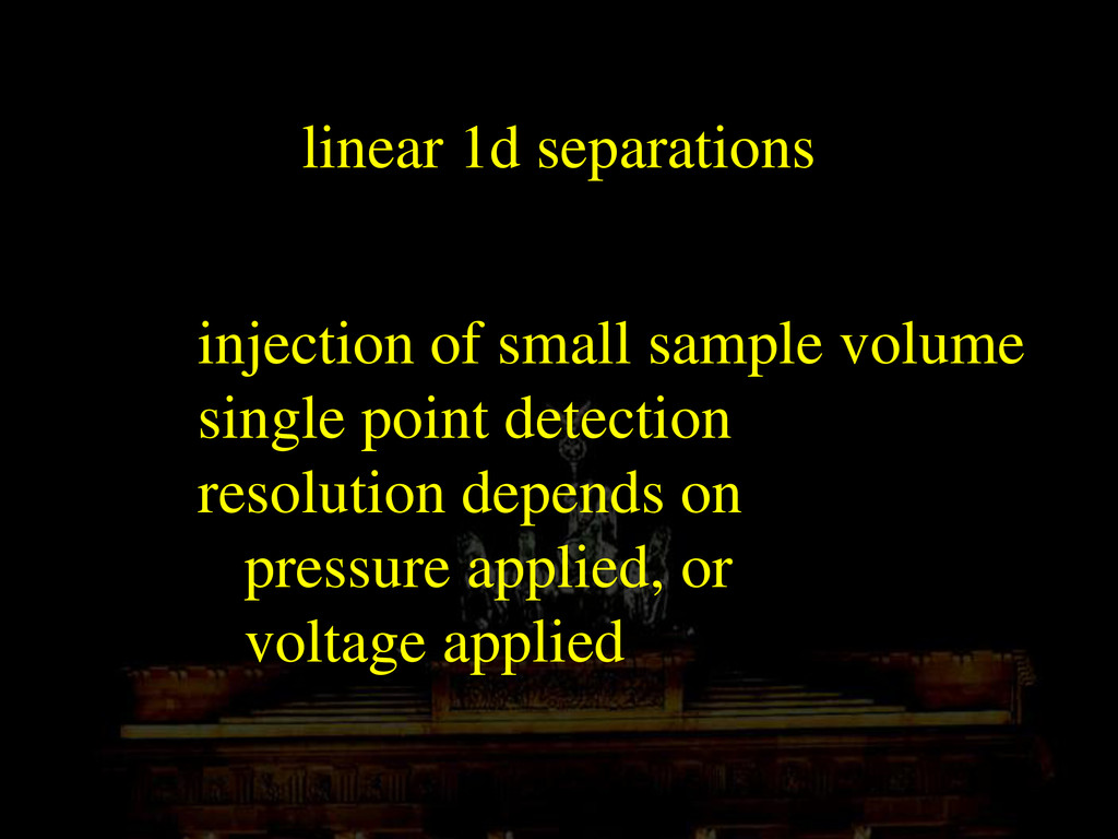 linear 1d separations injection of small sample...