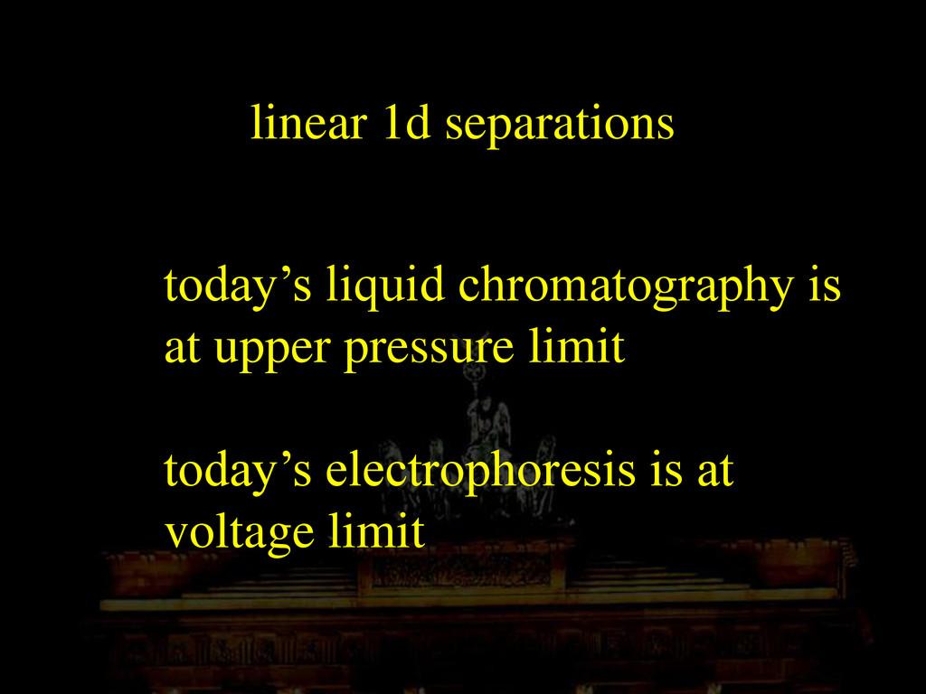 linear 1d separations today's liquid chromatogr...