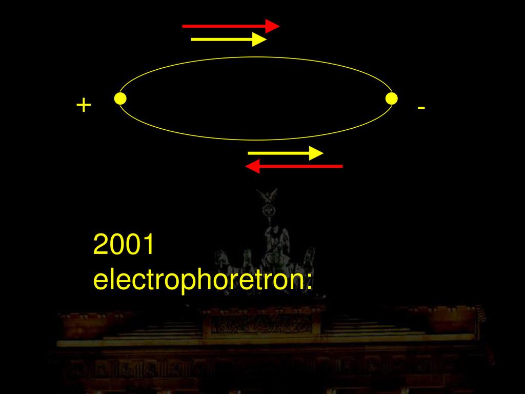 2001 electrophoretron: + -