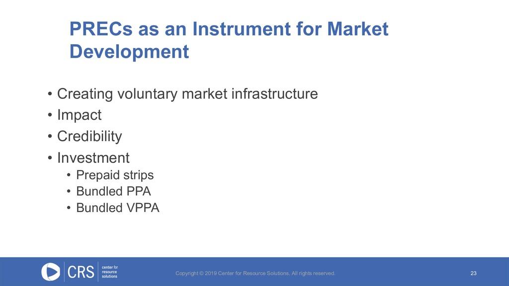 23 PRECs as an Instrument for Market Developmen...