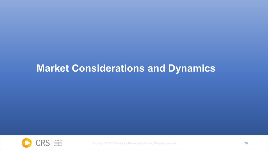 26 Market Considerations and Dynamics Copyright...