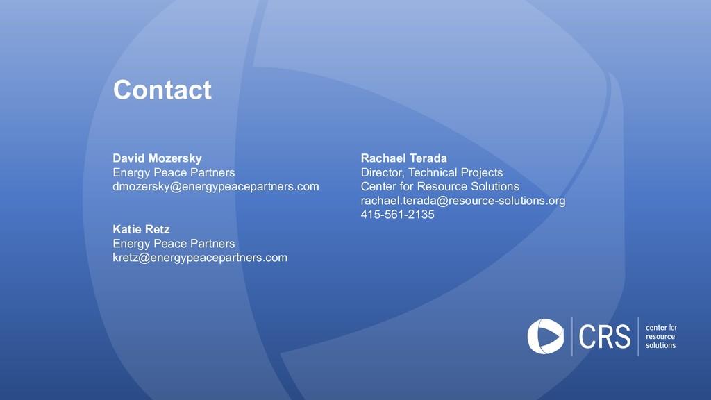 Contact David Mozersky Energy Peace Partners dm...