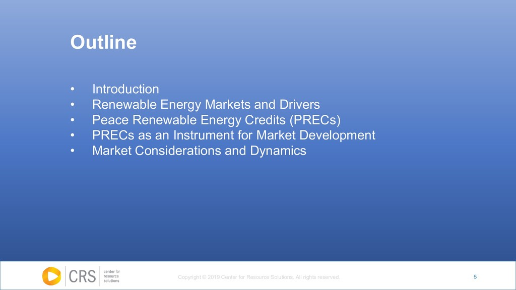 5 • Introduction • Renewable Energy Markets and...