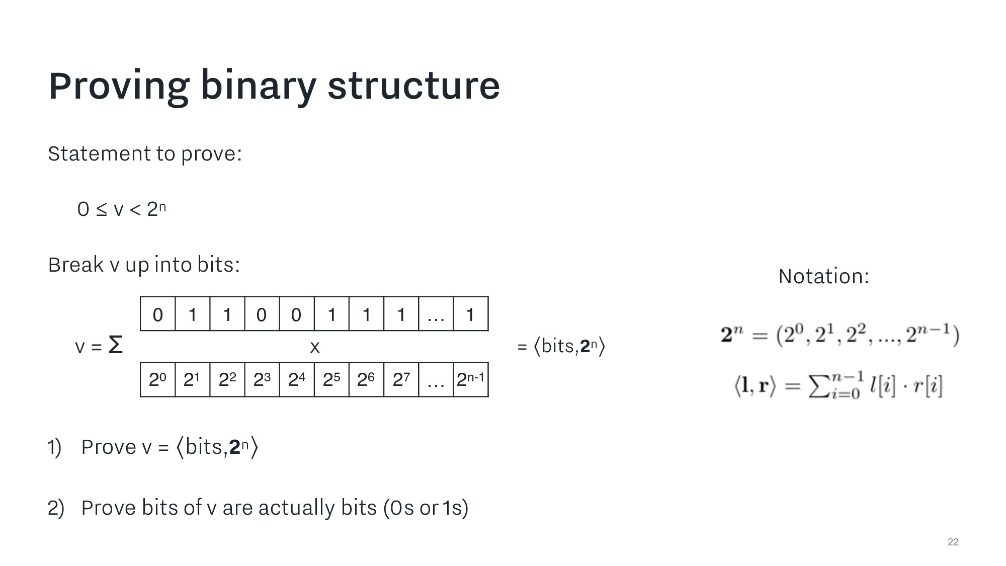 Proving binary structure 22 Statement to prove:...