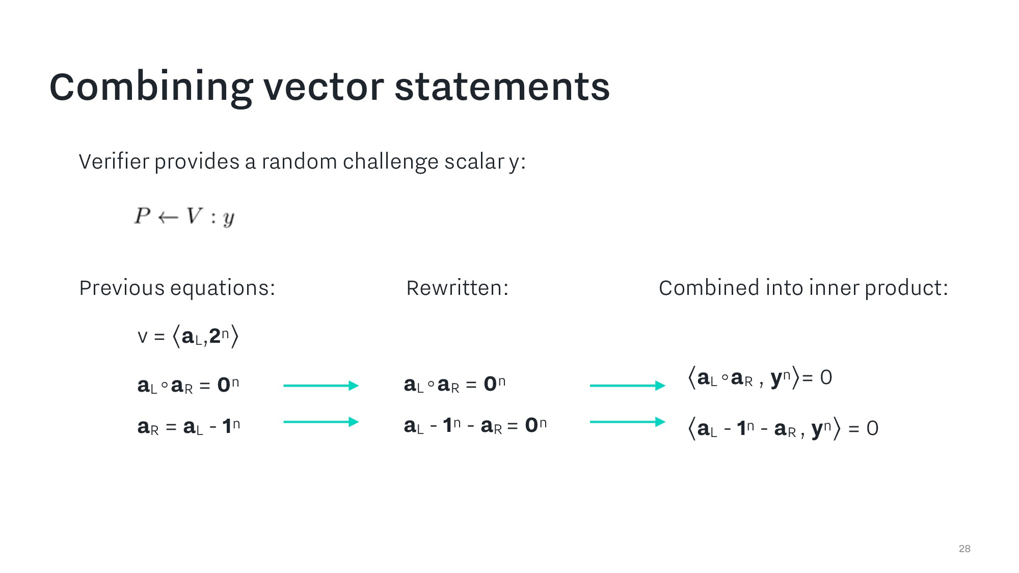Combining vector statements 28 Previous equatio...
