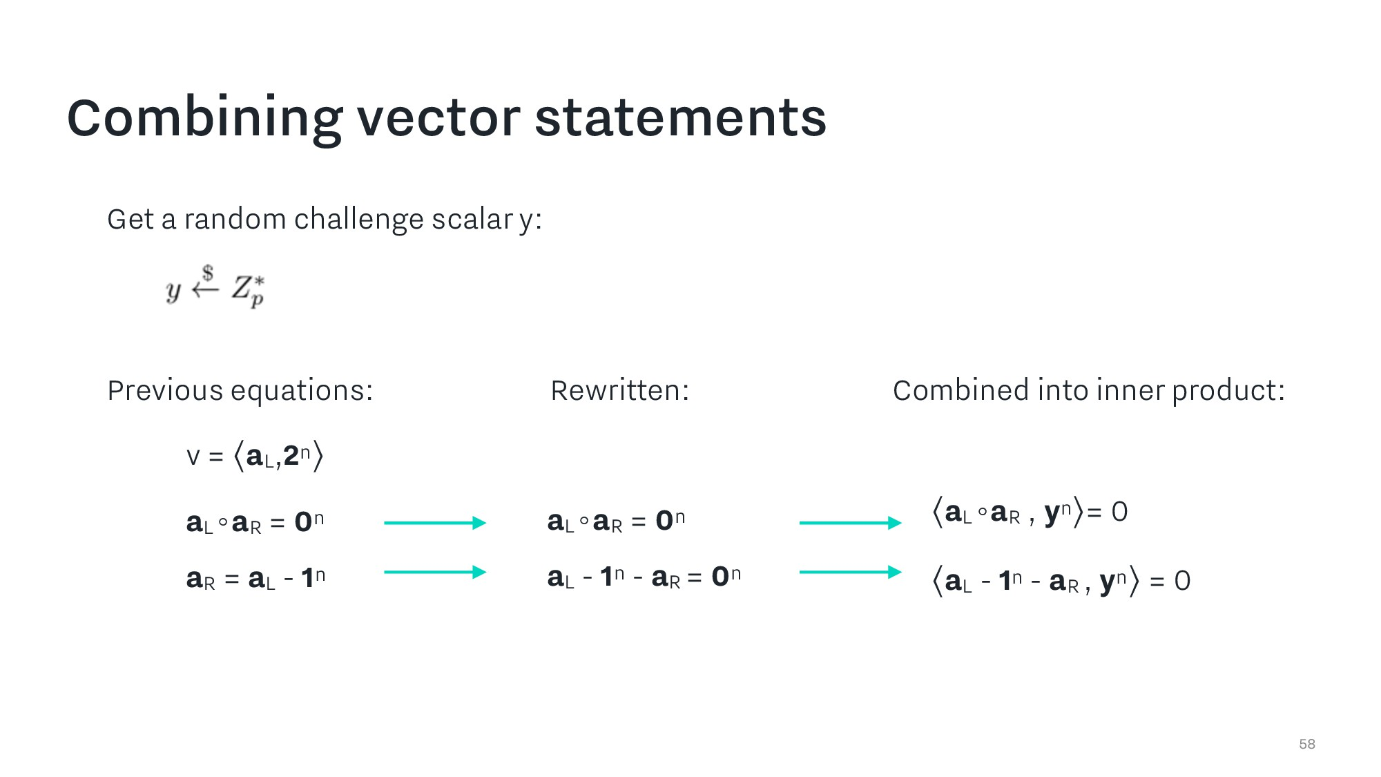Combining vector statements 58 Previous equatio...