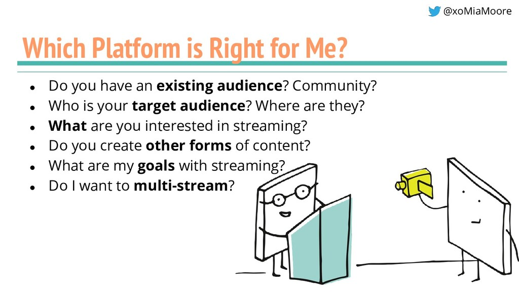@xoMiaMoore Which Platform is Right for Me? ● D...