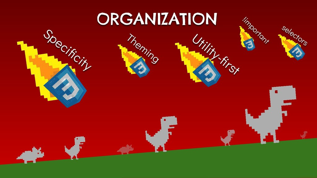 ORGANIZATION Utility-first Specificity Theming !i...