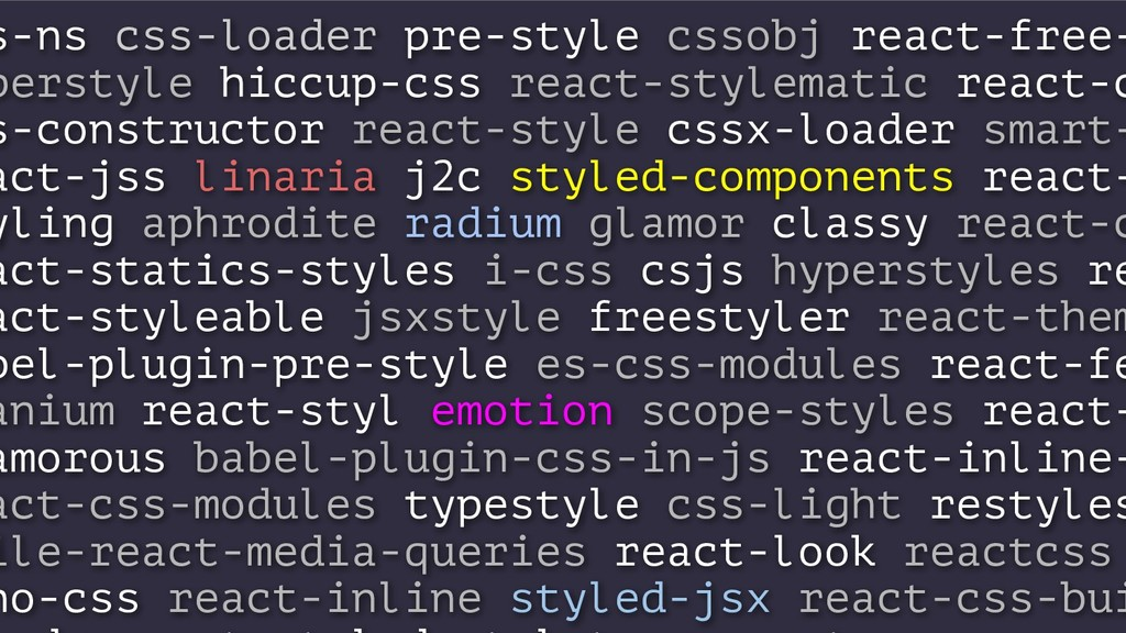 s-ns css-loader pre-style cssobj react-free- pe...