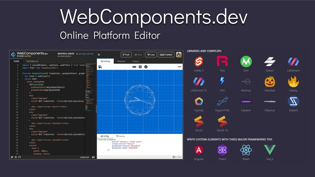 WebComponents.dev Online Platform Editor