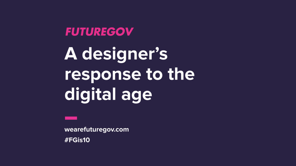 A designer's response to the digital age wearef...