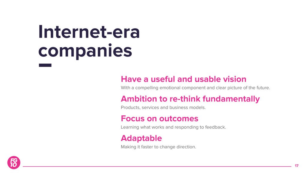 17 Internet-era companies Have a useful and usa...