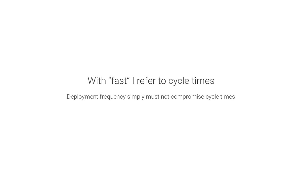 """What do you mean with """"going fast""""? How fast is..."""