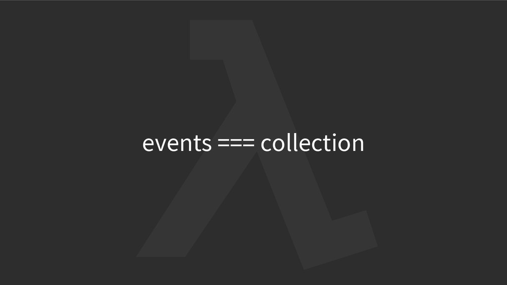 events === collection