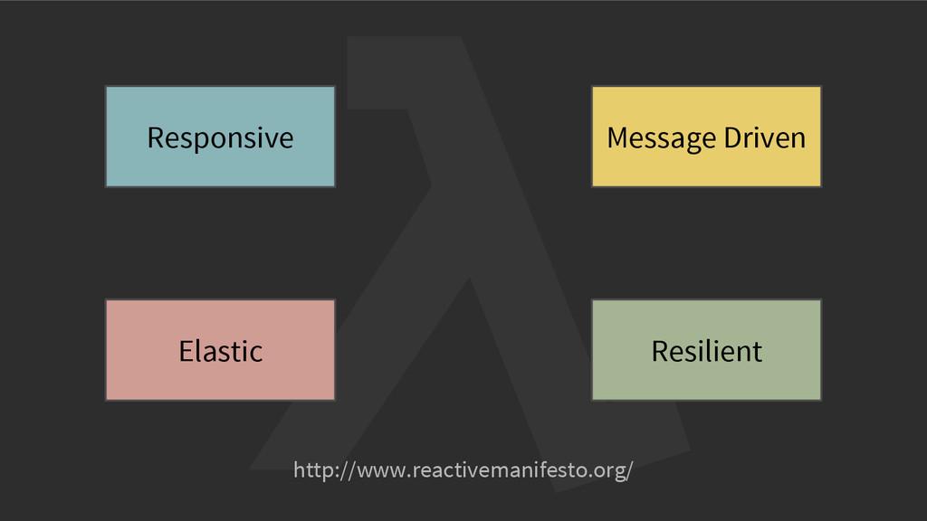 http://www.reactivemanifesto.org/ Responsive Me...