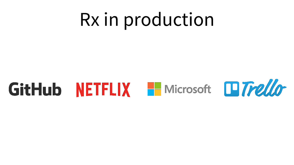Rx in production
