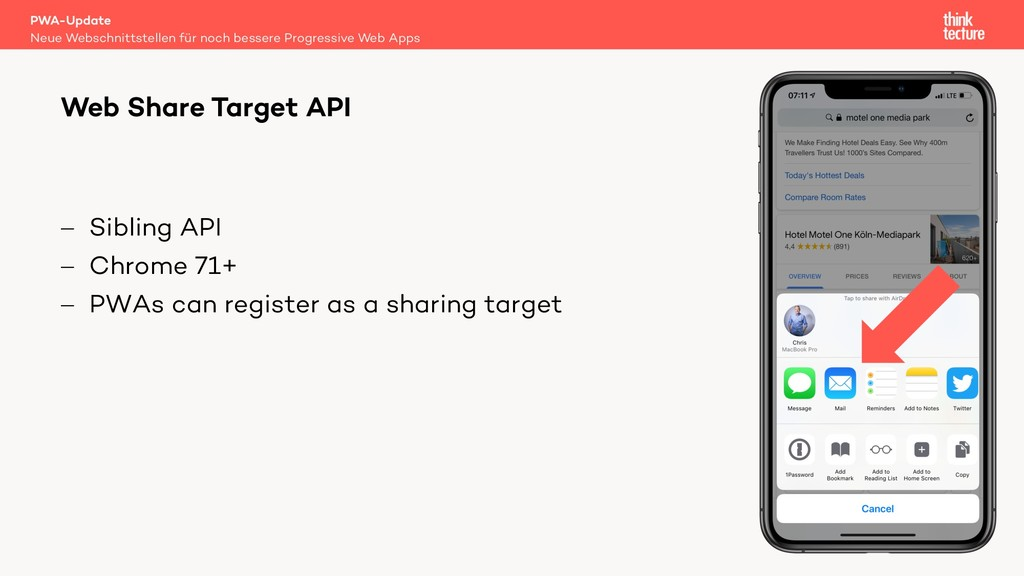 - Sibling API - Chrome 71+ - PWAs can register ...