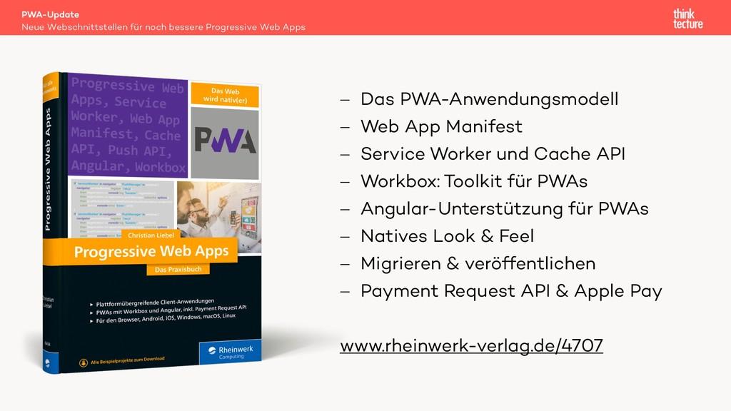 PWA-Update Neue Webschnittstellen für noch bess...
