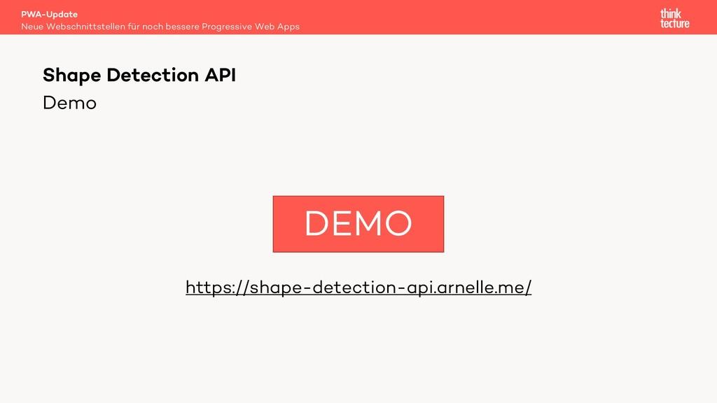 Demo https://shape-detection-api.arnelle.me/ PW...