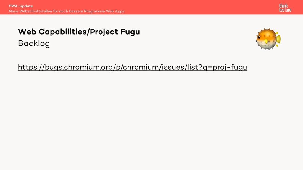 Backlog https://bugs.chromium.org/p/chromium/is...