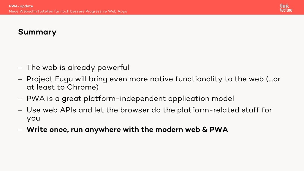 - The web is already powerful - Project Fugu wi...