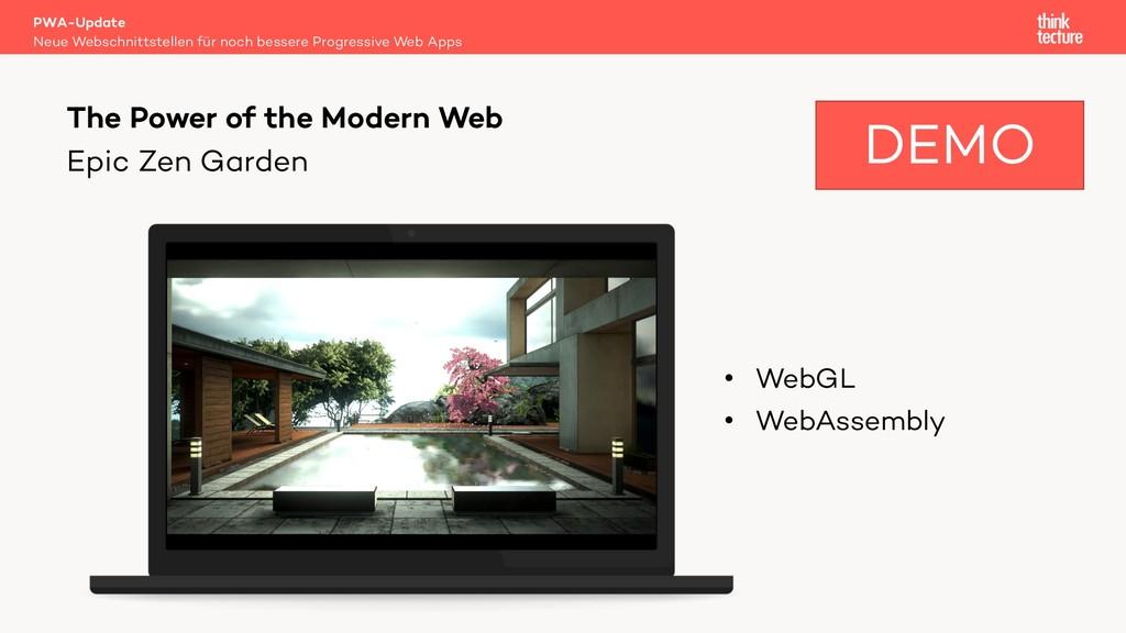 Epic Zen Garden PWA-Update Neue Webschnittstell...