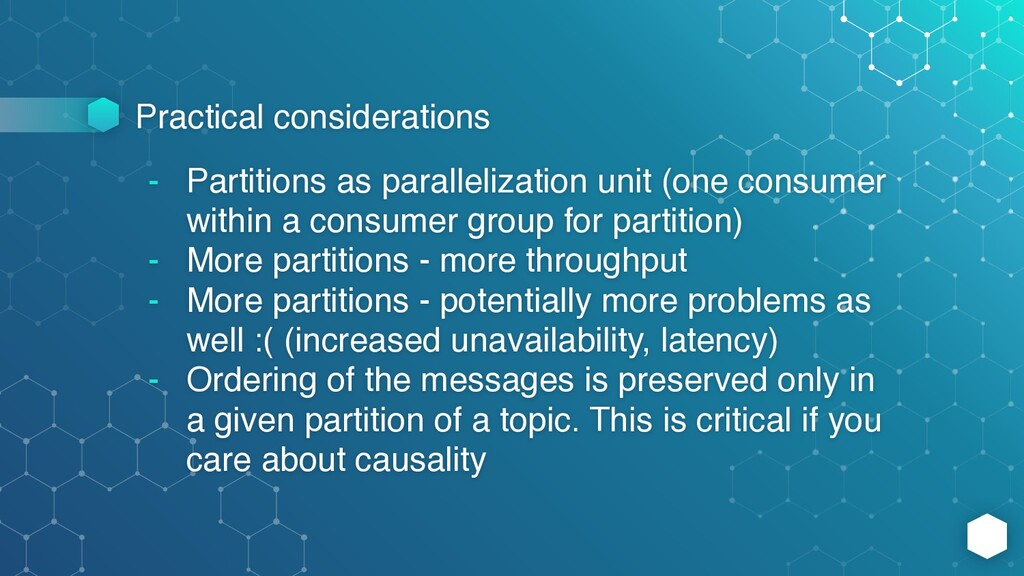 Practical considerations - Partitions as parall...