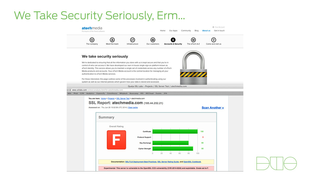 We Take Security Seriously, Erm…