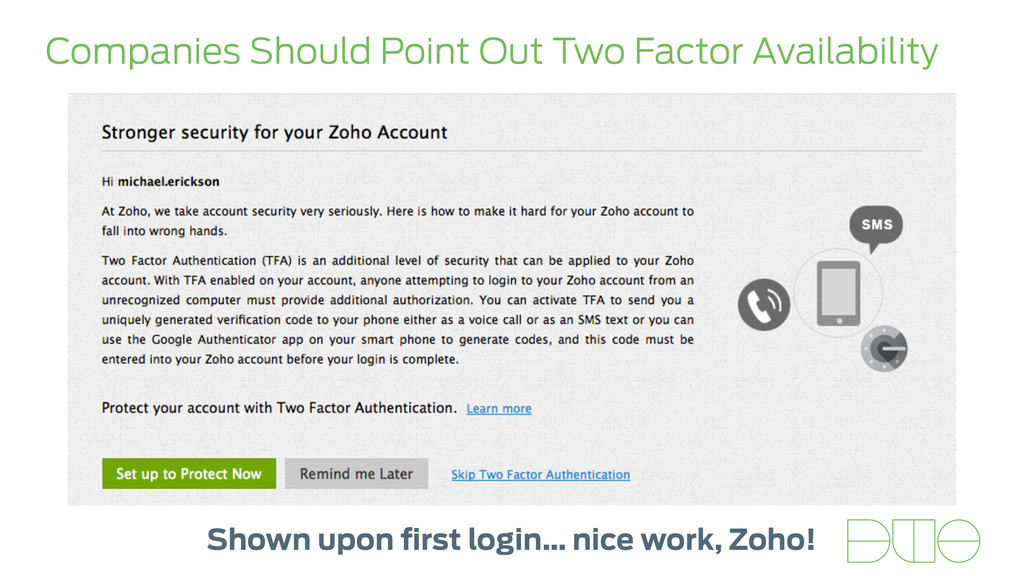 Companies Should Point Out Two Factor Availabil...