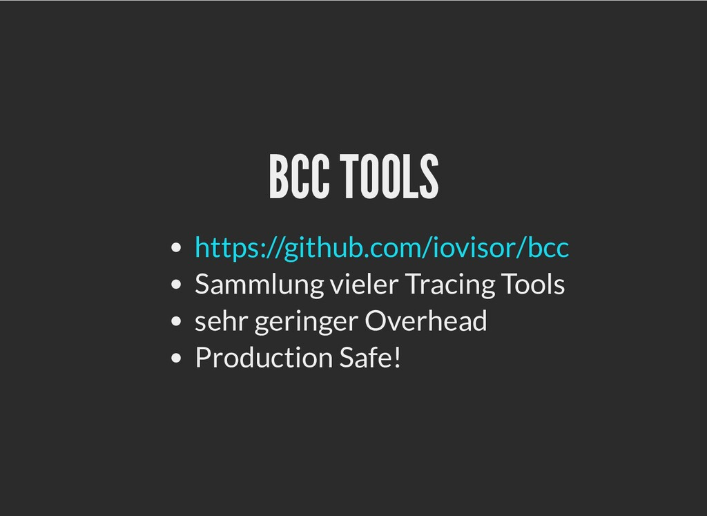 BCC TOOLS BCC TOOLS Sammlung vieler Tracing Too...