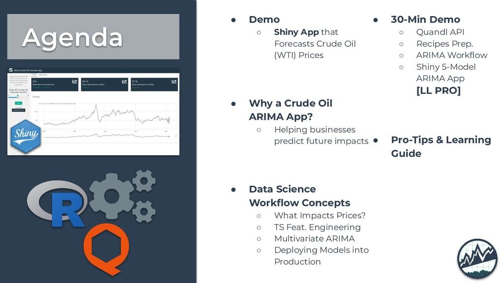 Agenda ● Demo ○ Shiny App that Forecasts Crude ...