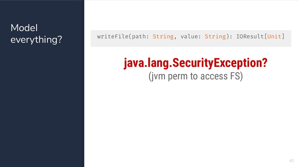 Model everything? 40 java.lang.SecurityExceptio...