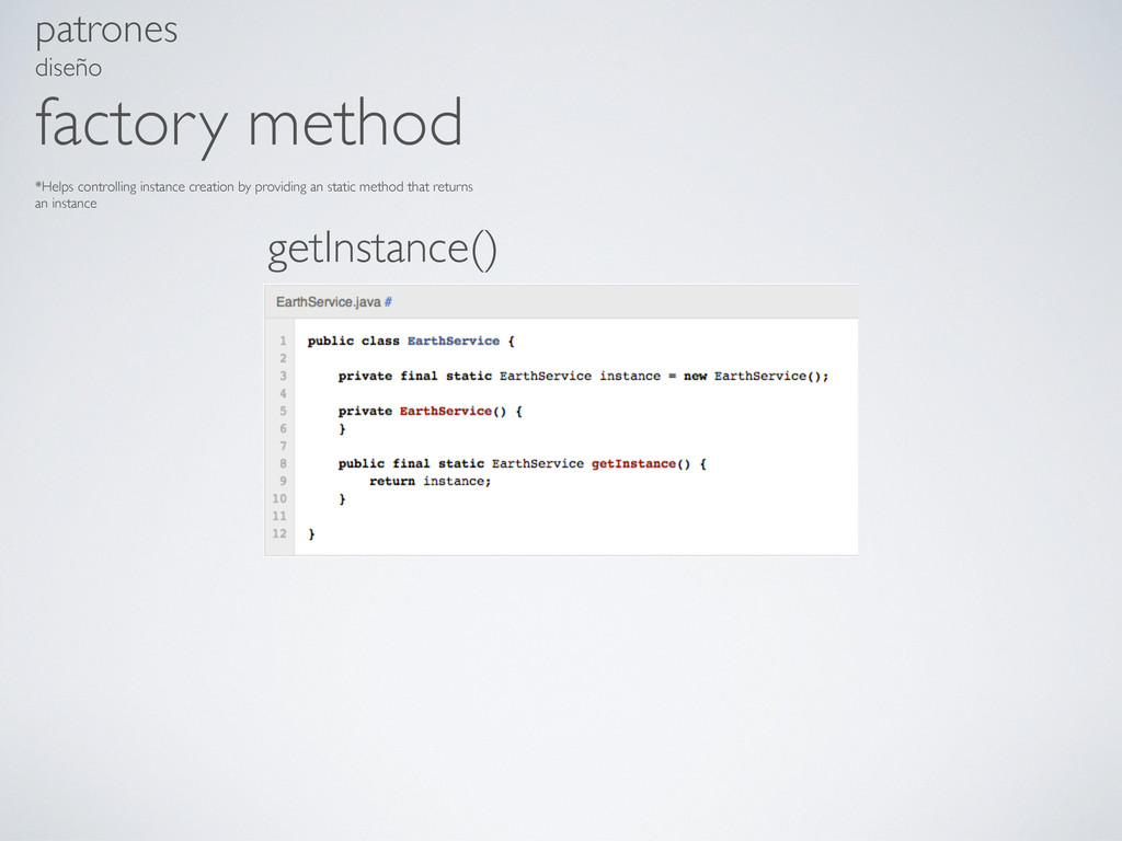 patrones diseño factory method *Helps controlli...
