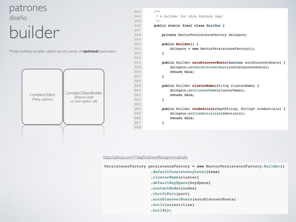 patrones diseño builder ComplexObjectBuilder (R...