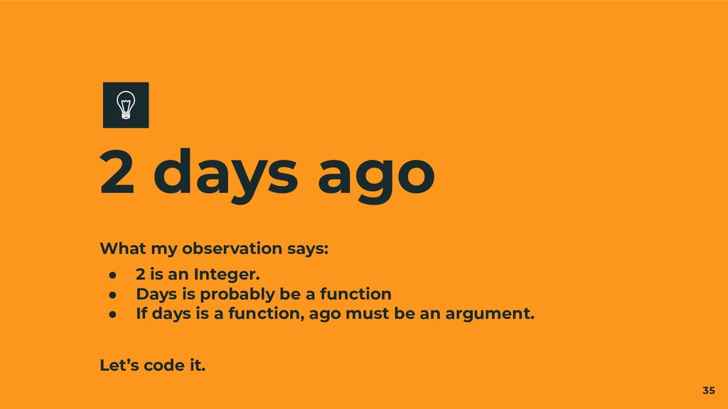 What my observation says: ● 2 is an Integer. ● ...