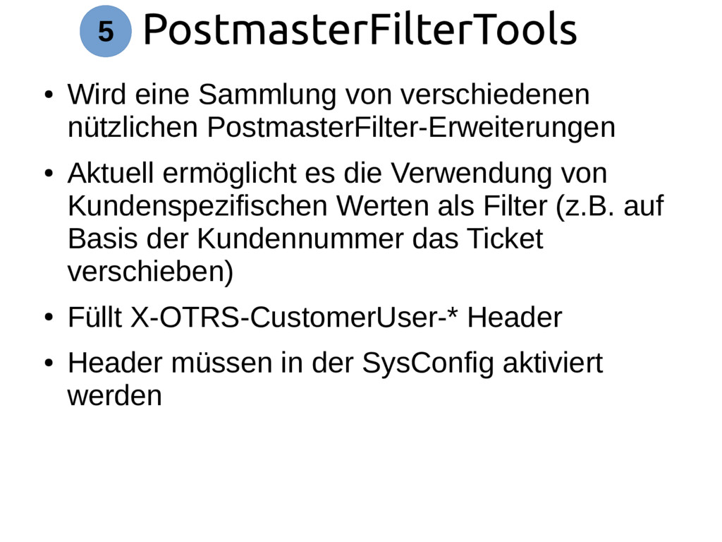 PostmasterFilterTools 5 ● Wird eine Sammlung vo...