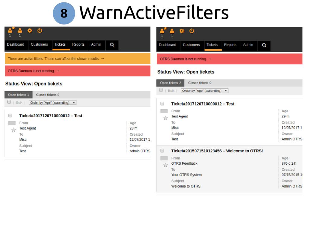 WarnActiveFilters 8