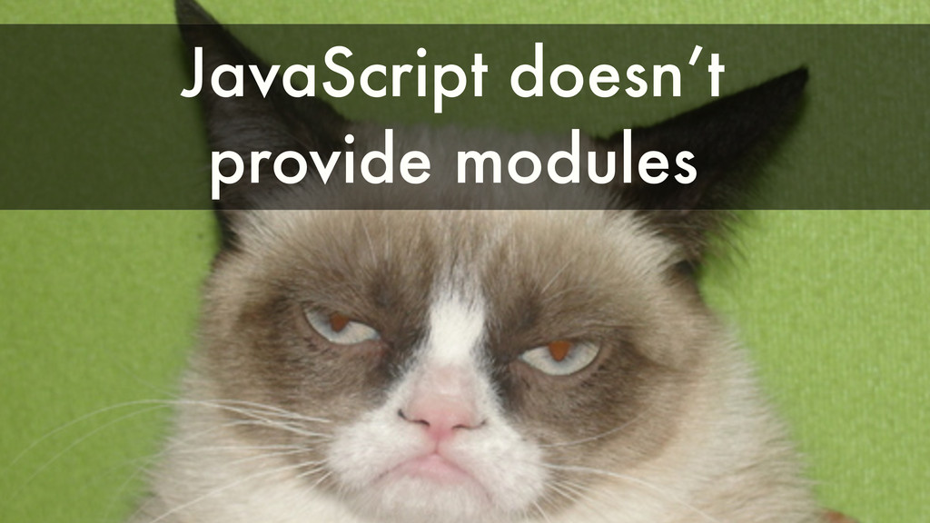 JavaScript doesn't provide modules