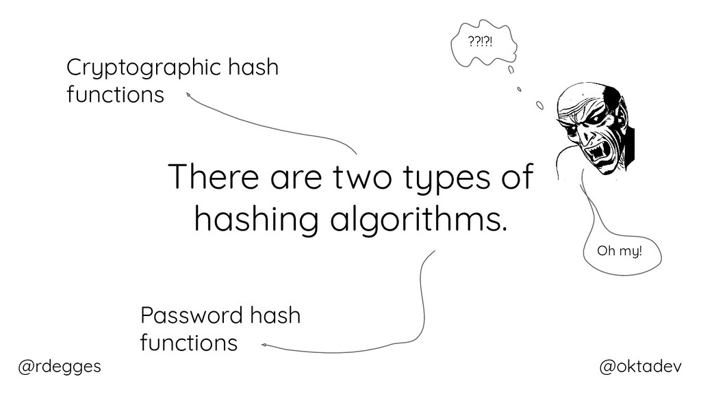 @rdegges @oktadev There are two types of hashin...