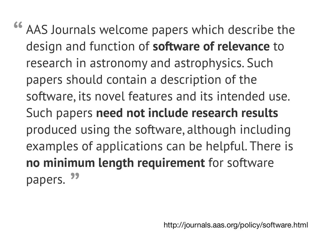AAS Journals welcome papers which describe the ...