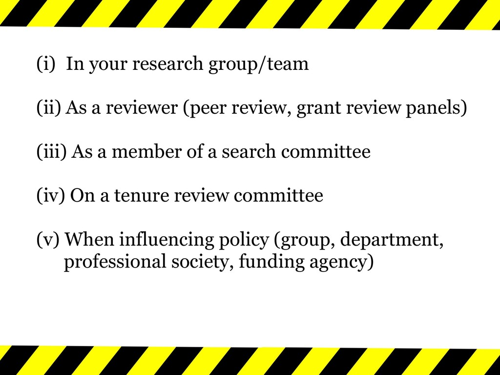 (i) In your research group/team (ii) As a revie...